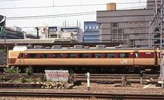 Japan Rail cab-coach at Kyoto in the mid 1990s (Tangled Bank) Tags: jr japan rail japanese asia asian urban train station pasenger equipment stock kyoto 1990s 90s railway railroad