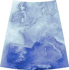 Cumulative European Cloud Cover Since 1999 (sjrankin) Tags: 3march2019 edited nasa europe clouds modis atlanticocean mediterraneansea weather large 1823mb