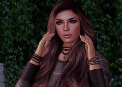 Rhiana, Mrs. Blue Eyes (✼ Dess ✼) Tags: secondlife virtual woman female blue eyes brunette classic sexy friend friendship profile portrait
