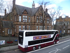 Lothian 1069 on Comiston Road, Edinburgh. (calderwoodroy) Tags: enviro400xlb alexanderdennis adl b8l volvo sj19owc 1069 service16 edinburghtransport transportforedinburgh lothianbuses lothian lothiancity lothianbusescentenary lothian100 doubledecker bus southmorningsideprimaryschool comistonroad edinburgh scotland