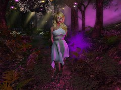 In The Dark Forest (Cherie Langer) Tags: firestorm secondlife secondlife:region=storybook secondlife:parcel=storybookforest secondlife:x=175 secondlife:y=36 secondlife:z=22 magic elves fae forest mage