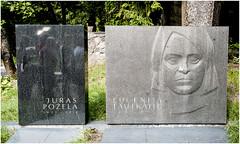 163- JURAS POZELA Y EUGENIJA TAUTKAITE - CEMENTERIO ANTAKALNIS - VILNIUS - LITUANIA- (--MARCO POLO--) Tags: cementerios ciudades curiosidades rincones