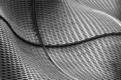 Slinky (DobingDesign) Tags: blackandwhite guysandstthomashospital cancercentre architecture london londonbridge pattern lines curves mesh architecturaldetail abstract patterns boilersuit thomasheatherwick wovensteel