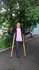 amp-1773 (vsmrn) Tags: amputee woman crutches onelegged