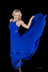 Dance (piotr_szymanek) Tags: ania aniaa woman young skinny face eyesoncamera portrait studio blonde hand nobra dress blue dance 1k 20f 5k 50f 10k 20k 30k