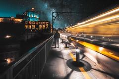 • T R O N • (Greg Delaville Photography) Tags: ponteluis1 landscape nightshot architecture cityscape city dri raw lightroomcc photoshopcc futuristicphotography longexposure lighttrails nightscape flickr europe milkyway porto portugal 1635f4 canon5dmarkiv canon