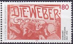 Deutsche Briefmarken (micky the pixel) Tags: briefmarke stamp ephemera deutschland bundespost gerharthauptmann dramatiker schriftsteller novelist dieweber