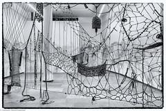 Ist das Kunst oder kann es weg ?? (J.Weyerhäuser) Tags: kunst laden raum schnüre seil crazytuesday sw bw kunstwerk installation