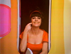 Jo Anne Worley, Rowan & Martin's Laugh-In, 1968 (classic_film) Tags: rowanmartinslaughin vintage retro color classic ephemeral nostalgic nostalgia 1968 1960s sixties laughin comedy television tv program america american usa unitedstates joanneworley schauspielerin aktrice actrice woman frau mujer pretty prettygirl brunette celebrity burbank california nbc entertainment varietyshow music musik clothing ropa fashion atriz schön kleidung mujerbonita hübschefrau hübschesmädchen hair hairstyle época clásico wardrobe clothes girl style