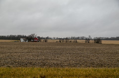 Farmland — Milford Township, Knox County, Ohio (Pythaglio) Tags: centerburg ohio unitedstates us milfordtownship farmland landscape farm agriculture rural historic buildings structures outbuildings barn farmhouse house dwelling field trees overcast knoxcounty