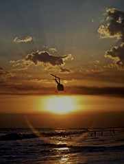 Ticket to the Sun (ChinoEstrada) Tags: guatemala monterrico sun beach helicopter chopper sol atardecer sunset pacifico golden