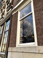 Amsterdam reflections    (s_evil) Tags: windows holland europe artistic architecture amsterdam trees reflections