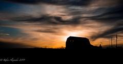Barn at sunset just off Highway 540 (K.R. Alexander) Tags: clouds countryside farm southernalberta color alberta sky barn sunset nikon810