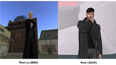 Then and Now #SecondLifeChallenge (adamfletcher4) Tags: then now strawberry singh secondlifechallenge second life roleplay male fashion old new flexi sculpt mesh man handsome devil harry potter