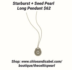 Today's Featured Item: Starburst + Seed Pearl Long Pendant $62 Shop: https://www.chloeandisabel.com/boutique/thecelticpearl/products/N174B/starburst-seed-pearl-long-pendant  Cream colored seed pearls and clear Czech crystals make this vintage-inspired sta (thecelticpearl) Tags: love trending shop trend crystal buy lifetime featured product guarantee chloeandisabel vintage daily trendy antique trends pearl shopping jewelry necklace crystals boutique accessories clear thecelticpearl cream brass ootd candi online style fashion