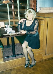 It's Saturday Night, And Here I Am Out On The Town (Laurette Victoria) Tags: evening blonde heels laurette woman