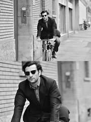 [La Mia Città][Pedala] (Urca) Tags: milano italia 2018 bicicletta pedalare ciclista ritrattostradale portrait dittico bike bicycle nikondigitale scéta biancoenero blackandwhite bn bw 1183