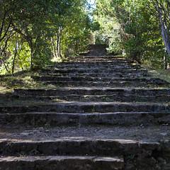 Eskailera magikoak (Lanzen) Tags: euskalherria basque country zumaia gipuzkoa urolakosta stairs escaleras forest woods trees shadow hill