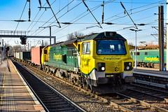 70002 - Ipswich - 21/02/19. (TRphotography04) Tags: freightliner 70002 creeps past ipswich hauling 4m93 1313 felixstowe north flt lawley street intermodal train