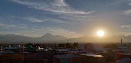 Sunrise, the Hostal Sumaj Jallpa, Tierra Buena, San Pedro de Atacama, the Purico Complex, the Atacama desert, Antofagasta, Chile.