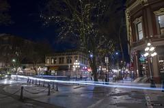 If This Corner Could Talk (Clayton Perry Photoworks) Tags: vancouver bc canada winter explorebc explorecanada night lights gastown stream skyline