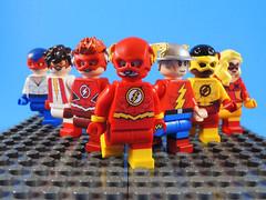 Flash Family (-Metarix-) Tags: lego super hero minifig dc comics comic flash family max mercury wallace west bart allen wally barry jay garrick jesse quick speedforce speedster custom minifigure
