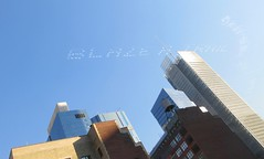 # IWD Blaze A Trail - Skywriting Hell's Kitchen 3425 (Brechtbug) Tags: iwd blaze a trail international womens day jet planes sky writing vapor ads cloud advertising above clinton hells kitchen neighborhood near 9th avenue west 42nd street nyc 2019 new york city midtown manhattan 03092019 skywriting airplane ad ubiquitous social media team airplanes jets