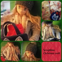 Seraphina Christmas 2018 Collage (kaortega1120) Tags: ooak obitsu azone doll collage christmas