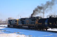 GECX 7313, CSX 7335, Smoke, Kampo, Neenah, 22 Feb 19 (kkaf) Tags: a491 kampo neenah c408w csx gecx leaser smoke