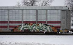 Eughr (quiet-silence) Tags: graffiti graff freight fr8 train railroad railcar art eughr autorack ferromex ttgx705696