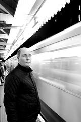 Waiting to Board (Adam_Leach) Tags: london tube bw people skancheli monochrome