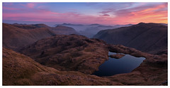 Sunrise over Sprinkling Tarn, The Lake District (dandraw) Tags: thelakes thelakedistrict cumbria outdoors adventure wildcamping wildcamp sprinklingtarn mountains sunrise skiddaw blencathra landscape goldenhour fuji fujifilm xt3