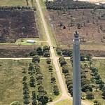 Flying over San Jacinto Monument, Houston, TX thumbnail