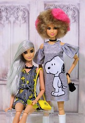 Peanuts Snoopy and Woodstock fashions (Annette29aag) Tags: barbie doll peanuts snoopy woodstock fashionista photography annette29aag