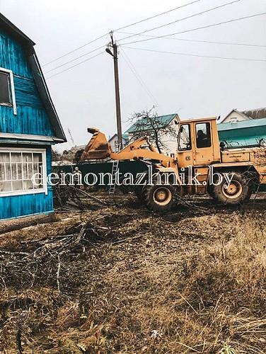 Демонтаж щитового деревянного дома 45м2, Минская область, деревня Карпиловка, работа выполнена за 8 часов