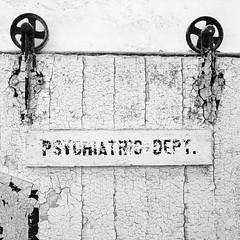 Psychiatric Dept. (Dalliance with Light (Andy Farmer)) Tags: wood abandoned decay easternstatepenitentiary philly weathered dilapidated monochrome bw prison philadelphia old pennsylvania unitedstatesofamerica us highkey