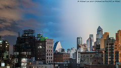 East Village Time Lapse Photo v2 (20190109-DSC00230-Edit Blur) (Michael.Lee.Pics.NYC) Tags: newyork eastvillage timelapse gradients cityscape skyline architecture hudsonyards nighttoday daytonight rooftops sky clouds sunrise dawn 35xv sony a7rm2 fe24105mmf4g