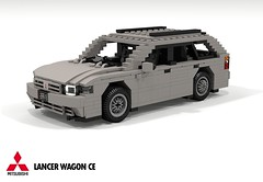 Mitsubishi CE Lancer Wagon (lego911) Tags: mitsubishi lancer ce wagon jdm japanese japan estate lego legocar lego911 moc model miniland auto car afol 1997 1990s foitsop mirage