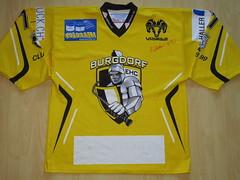 EHC Burgdorf 2015 - 2016 Game Worn Jersey (kirusgamewornjerseys) Tags: 1 liga game worn jersey ice hockey switzerland eishockey ehc burgdorf sandro steiner sandrosteiner