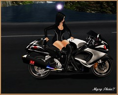 Hot Wheels!! (MysyTheia (MysteryHot Resident)) Tags: mesh bike bento black leather hot legs hide mystery sexy