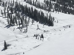 AV Mitigation_RedMtnPass_aerial.3.15.2019 (8) (coloradodotphoto) Tags: avalanche mitigation us550 redmountainpass colorado southwest region5 dot cdot highway safety aerial helicopter roadclosed
