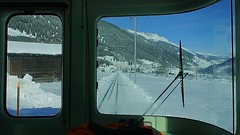 MGB - Arriving in Disentis from Oberalp Pass