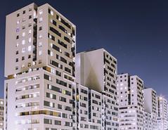 Modern anthills (bolandrotor) Tags: architecture krakow poland flat avia night residentaldistrict