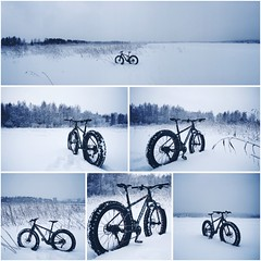 Snow biking (pjen) Tags: fatbike fatbiking lake snow frozen freezing winter finland nature ice