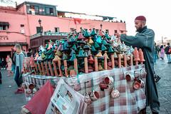 Tagine Merchant. (Matthias Dengler || www.snapshopped.com) Tags: matthias dengler snapshopped morocco moroccon marrakesh marrakech tagine market jema elfnaa koutoubia mosque street streets documentary travel explore discover create journal diary africa