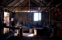Blacksmith's Workshop (bobarcpics) Tags: workshop blacksmith ruralvictoria ruralproperty light bellows tools pitchedroofs