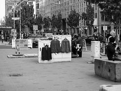 Old DDR uniforms in Friedrichstrasse (Franco & Lia) Tags: street strasenfotografie fotografiadistrada photographiederue berlin berlino friedrichstrasse ddr gdr germany deutschland germania uniformi uniforms biancoenero schwarzundweiss blackwhite noiretblanc ostalgie
