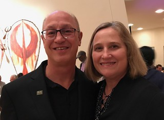 University of Miami dean of music  Dr. Shelly Berg with wife Julia at the jazz roots concert at the Arsht performing arts center