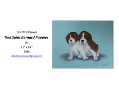 "Two Saint Bernard Puppies • <a style=""font-size:0.8em;"" href=""http://www.flickr.com/photos/124378531@N04/47052358462/"" target=""_blank"">View on Flickr</a>"