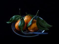 Manderin Oranges (J Wells S) Tags: manderinoranges stilllife dish knife leaves cincinnati ohio